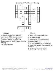 Civil War Crossword