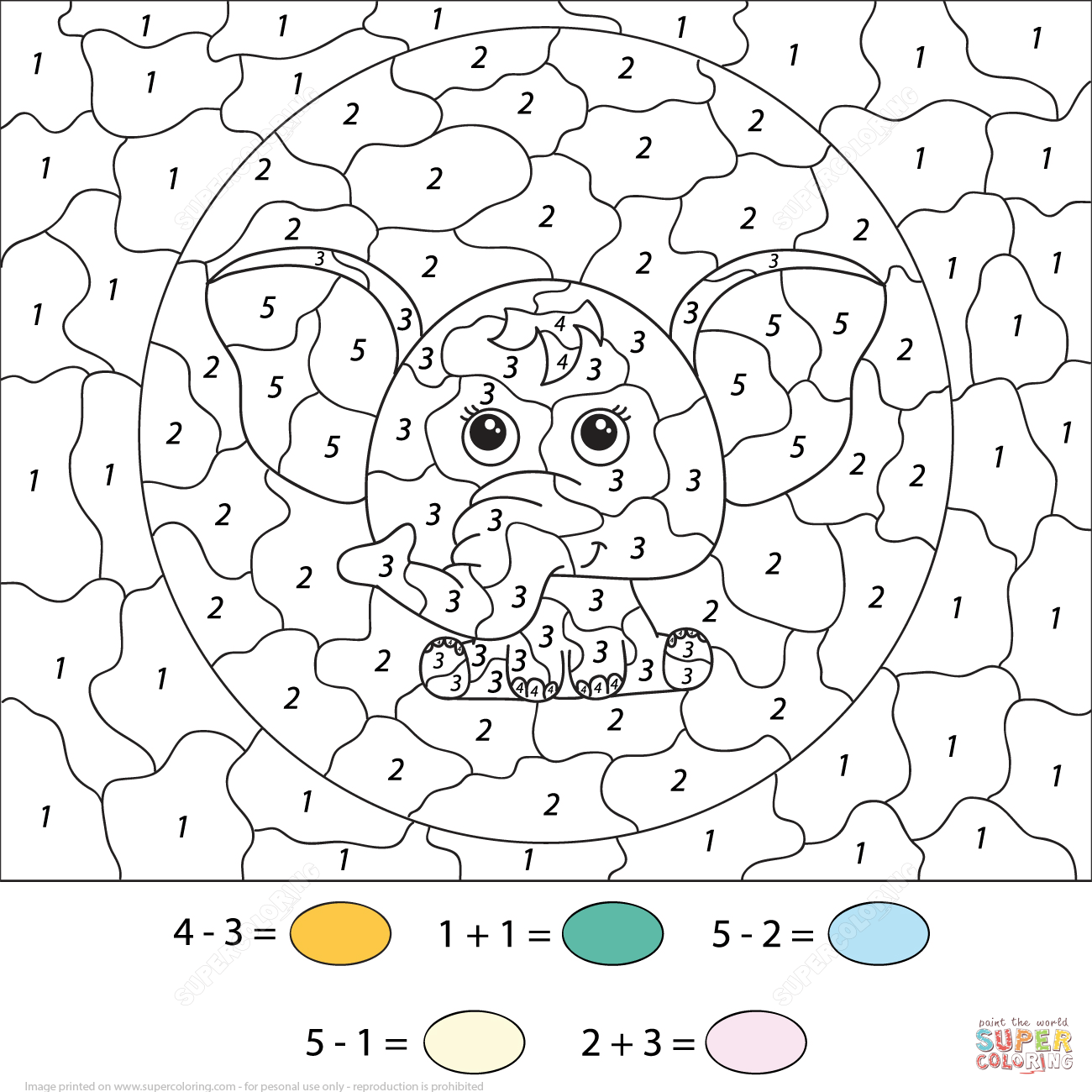 34 Color by Number Addition Worksheets