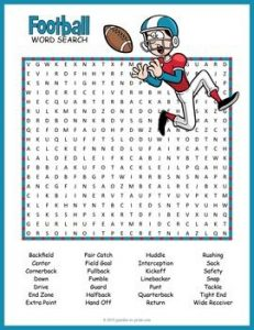 Football Vocabulary Crossword