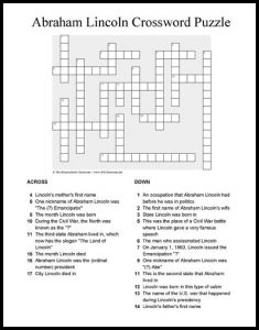 Free Civil War Crossword Puzzles