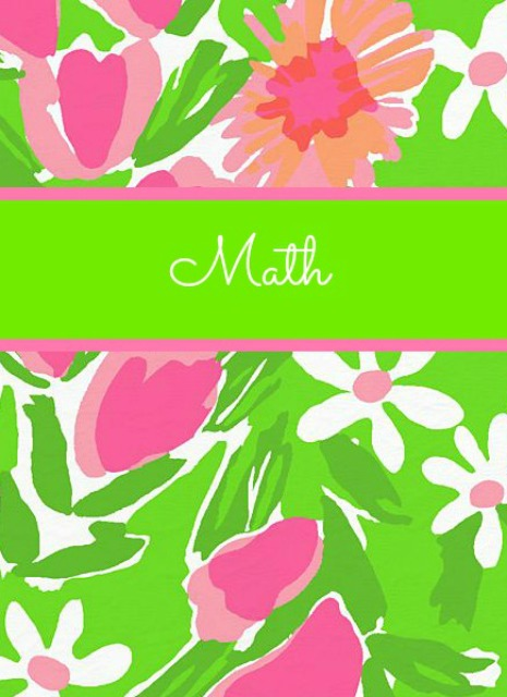 Math Binder Cover Design