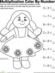 Multiplication Coloring by Number