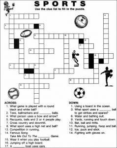 Sports Crossword Puzzles