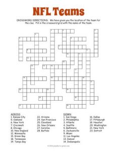 Sports Crossword Puzzles for Adults
