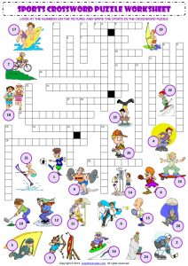 Sports Crossword Puzzles for Middle School