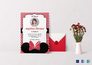 Birthday Minni-mouse Invitation