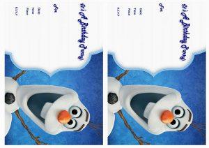 Disney Frozen Party Invitations