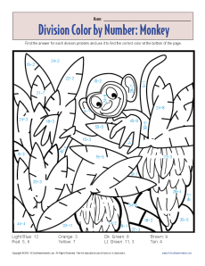 22 fun to do division color by number printables - Fun Colouring Sheets