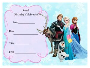 Free Frozen Birthday Invitations