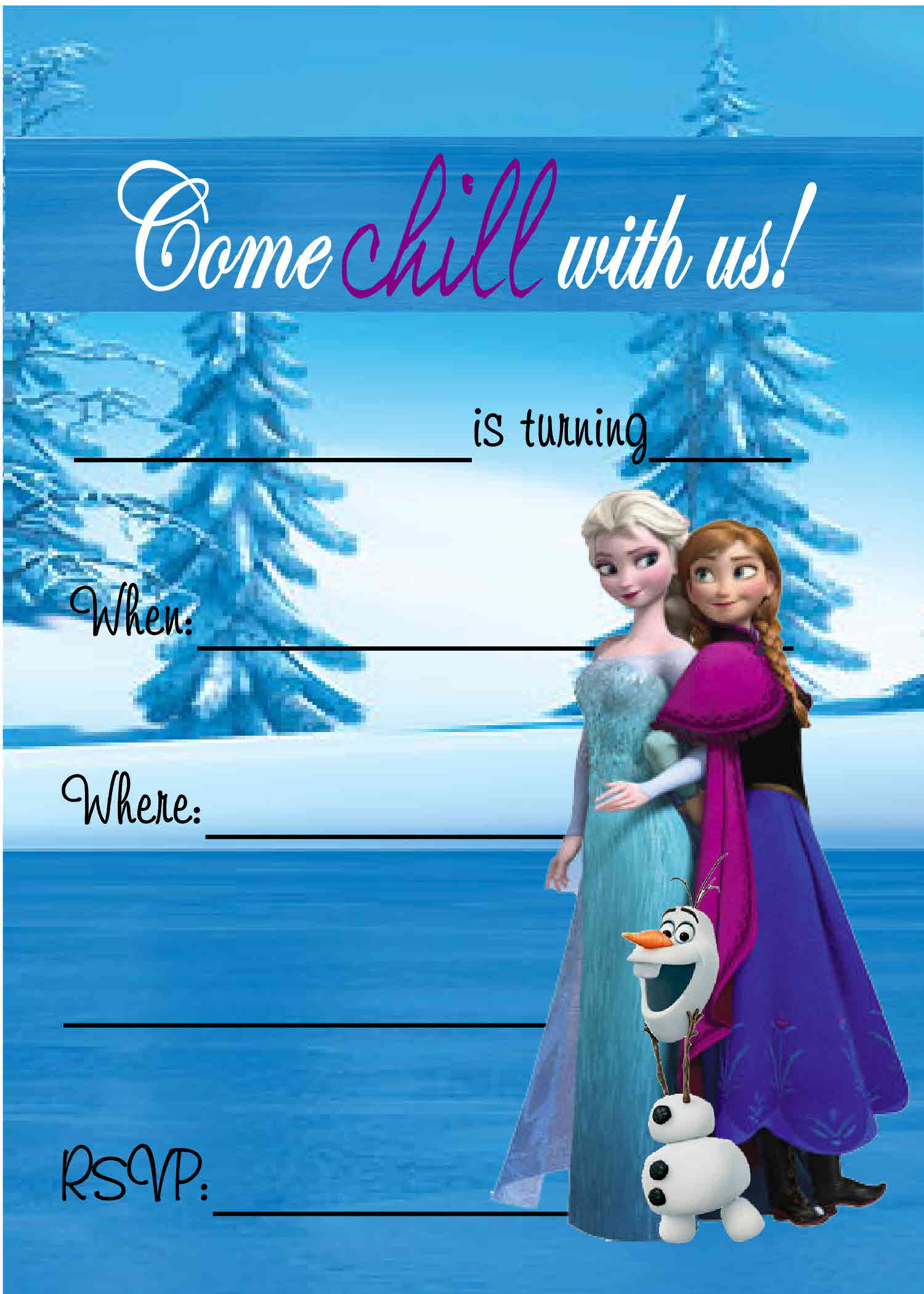 graphic relating to Frozen Invitations Printable named 24 Heartwarming Frozen Birthday Invites