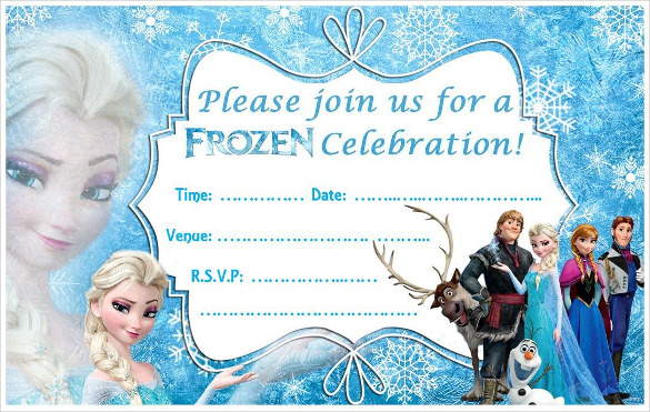 Bright image with regard to frozen invites printable