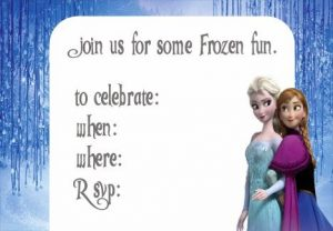 Frozen Printable Invitations Free