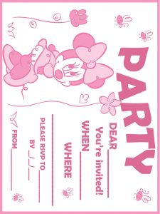 Minnie Mouse First Birthday Invites