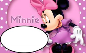 Minnie Mouse Photo Birthday Invitations