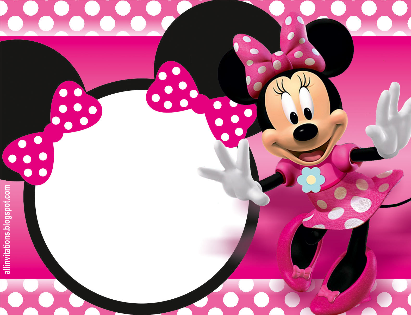 32 superb minnie mouse birthday invitations