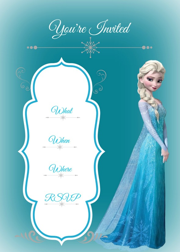This is a photo of Frozen Birthday Card Printable inside 4th