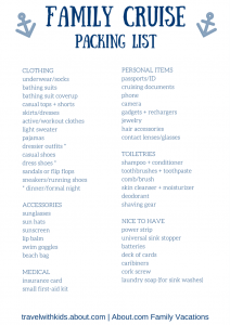 Checklist for Packing for a Cruise