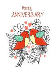 graphic relating to Free Printable Anniversary Cards for Him known as 30 Totally free Printable Anniversary Playing cards