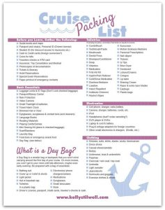 Free Printable Cruise Packing Checklist