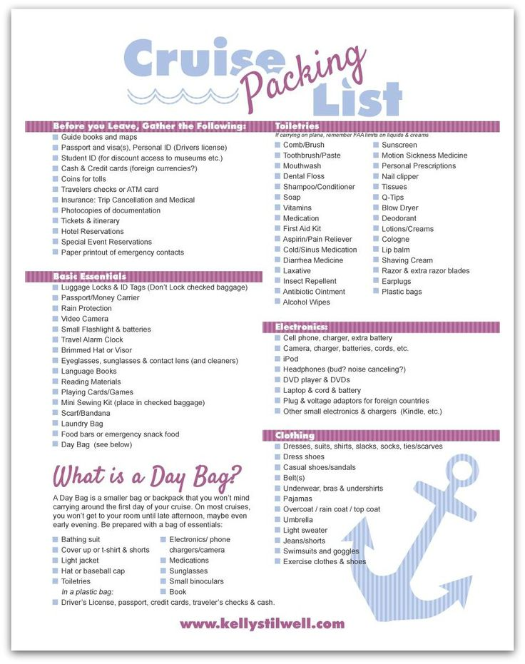 This is a photo of Hilaire Printable Cruise Packing List
