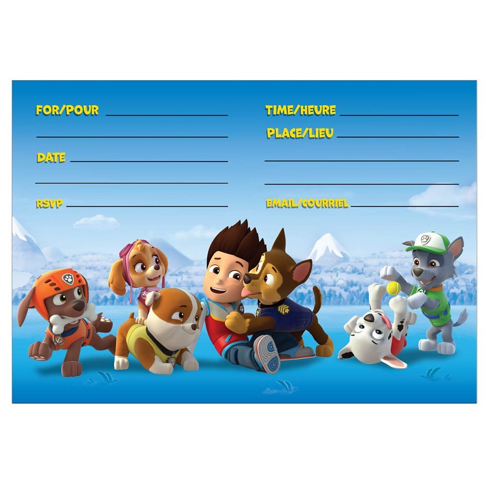 Paw Patrol Birthday Invitations Girl