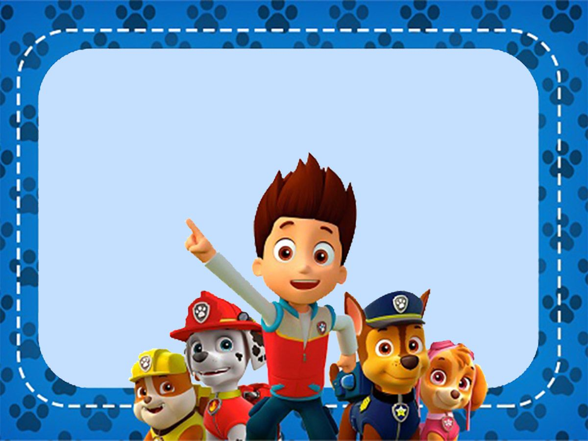 Altre Immagini Da Colorare Per Paw Patrol Birthday Invitation Template