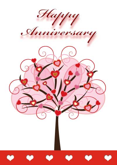 Magic image within printable anniversary cards