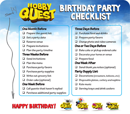 26 Life-easing Birthday Party Checklists | Kitty Baby Love