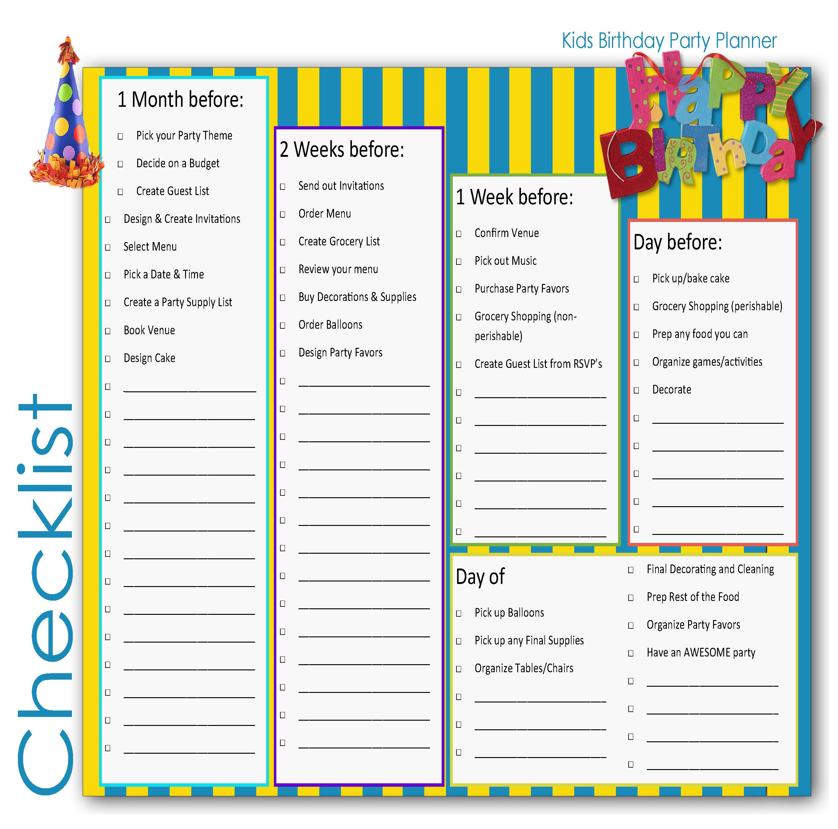 26 Life-easing Birthday Party Checklists
