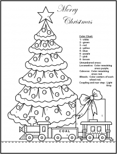 Christmas Tree Color by Number