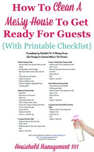 Cleaning House for Guests Checklist