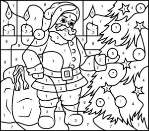 Color by Number Pages Christmas