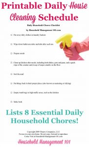 Detail House Cleaning Checklist