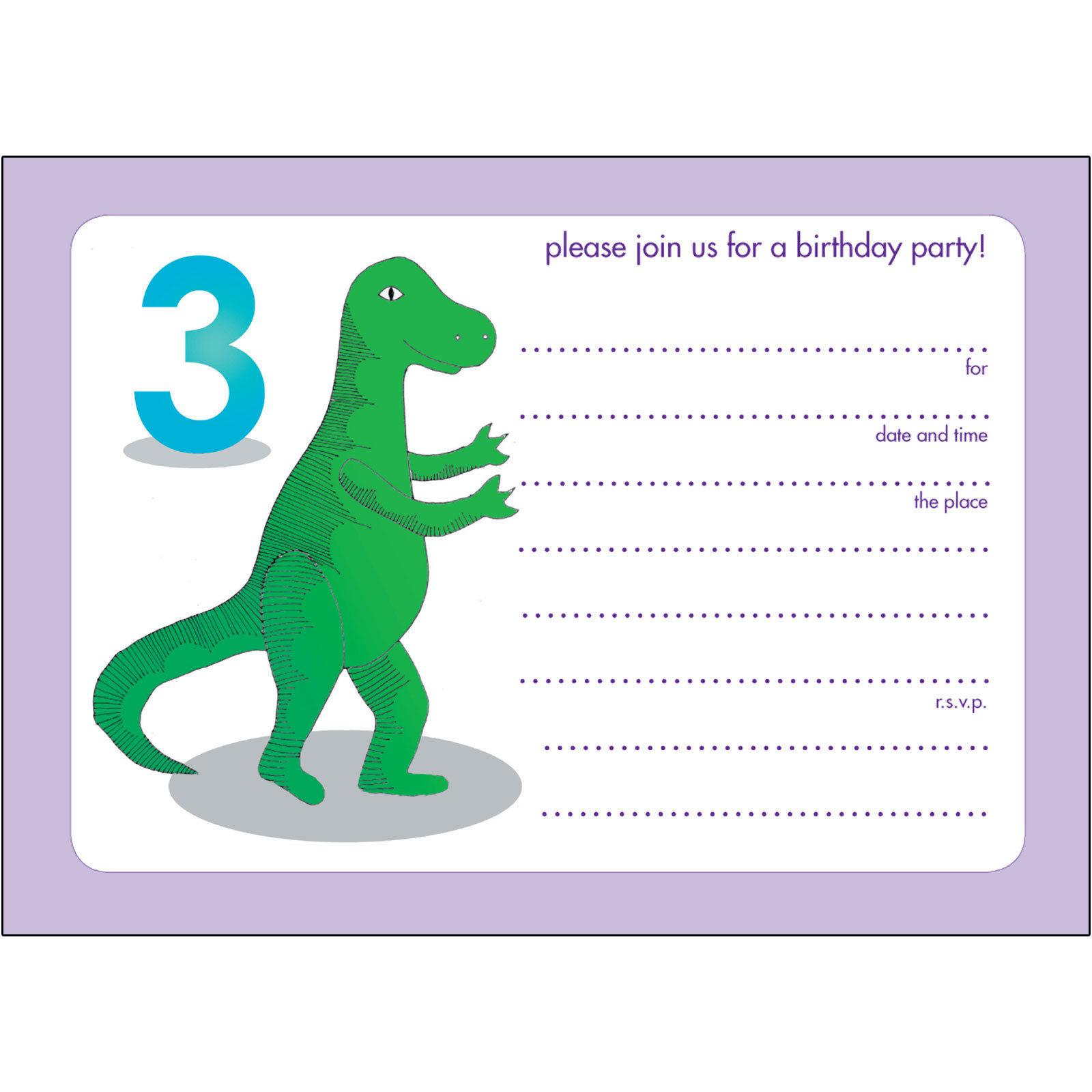 19 Roaring Dinosaur Birthday Invitations