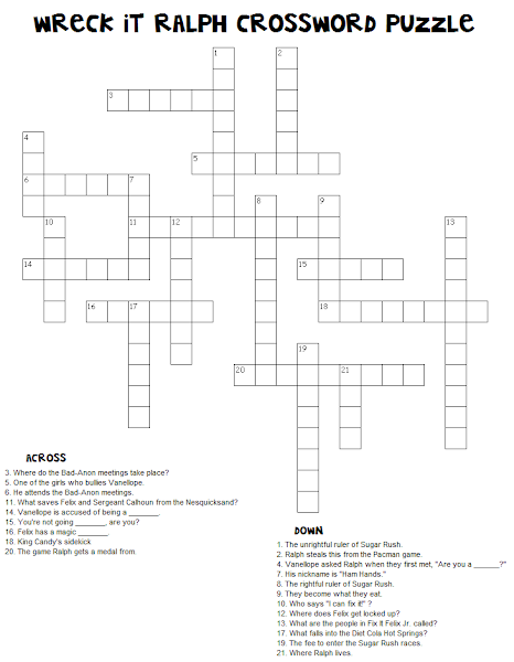 Eloquent image with disney crossword puzzles printable