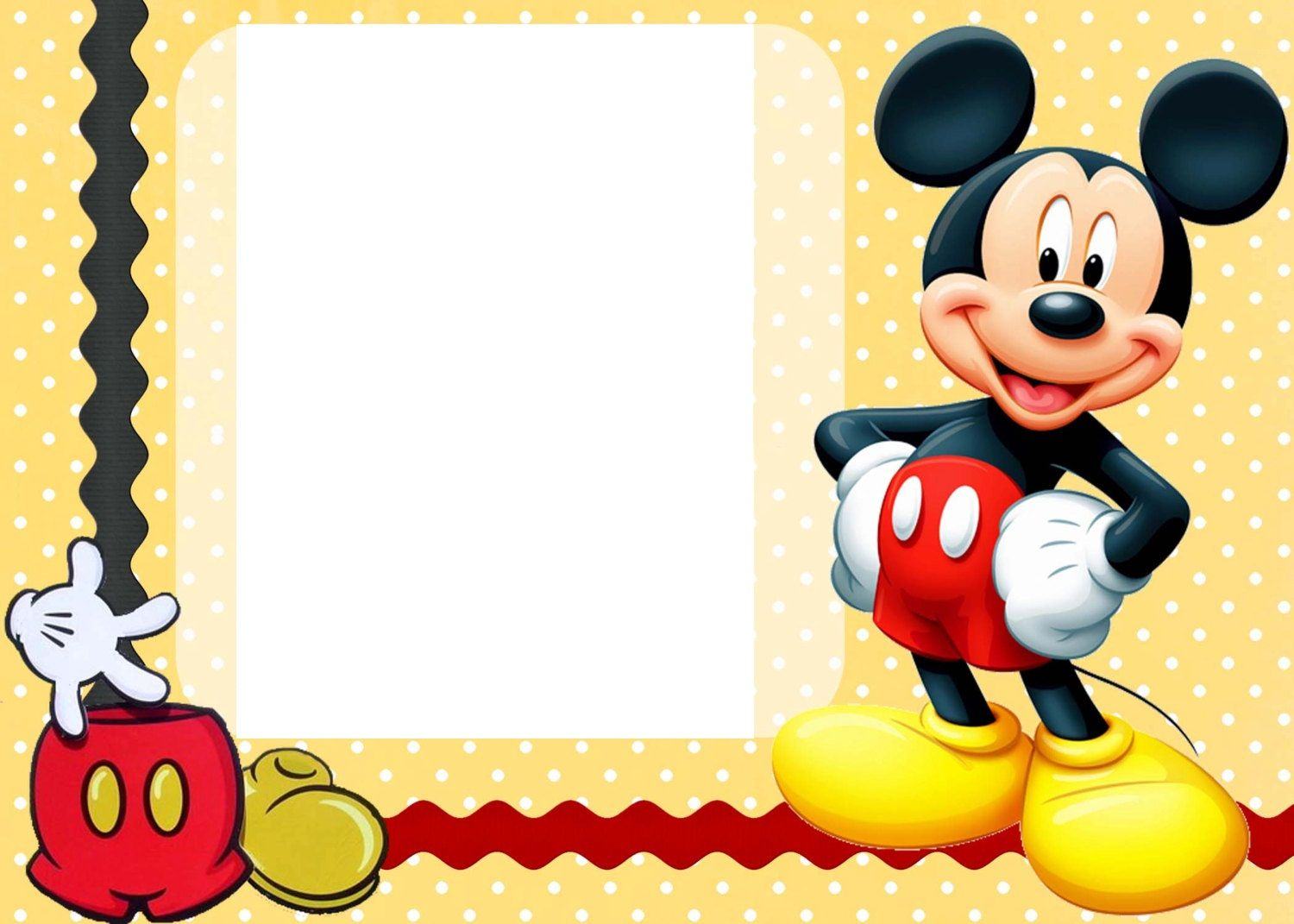Disney Mickey Mouse Birthday Invitations