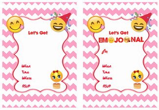 photograph about Free Printable Emoji Invitations known as 9 Lovable Emoji Birthday Invites
