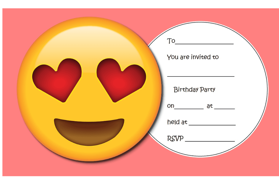 image about Printable Emoji Birthday Invitations named 9 Lovely Emoji Birthday Invites
