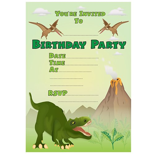 Crafty image in dinosaur invitations free printable