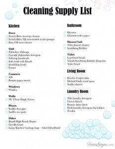 House Cleaning Kit Checklist