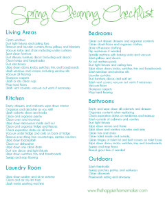 House Spring Cleaning Checklist