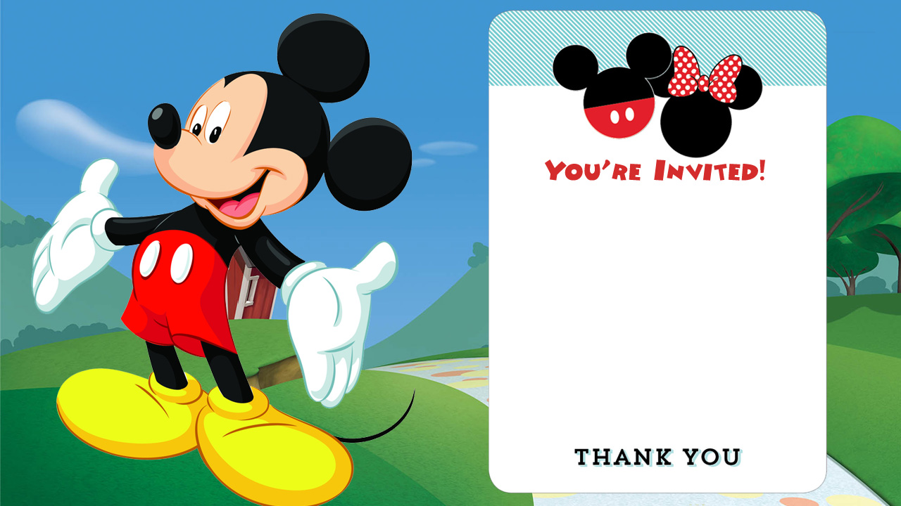 25 incredible mickey mouse birthday invitations
