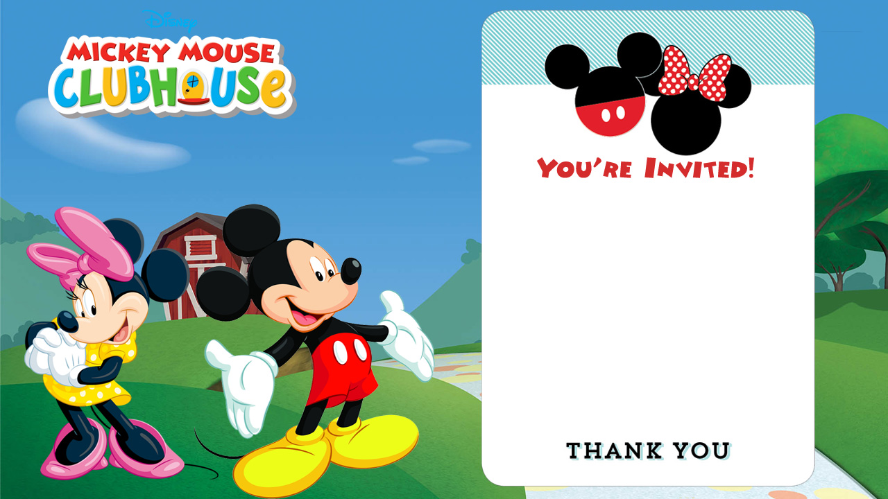 Mickey Mouse Clubhouse Birthday Invitations