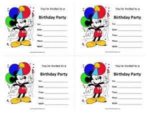 Mickey Mouse Clubhouse Birthday Invites