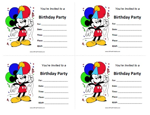 25 Incredible Mickey Mouse Birthday Invitations Kitty Baby Love