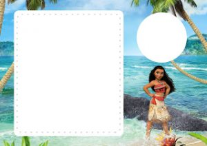 Moana Birthday Invitations with Photo