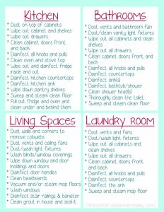 Moving House Cleaning Checklist