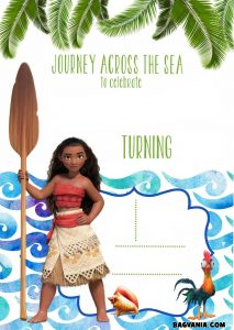 Personalized Moana Birthday Invitations