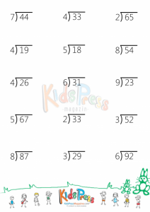 Printable Division Flash Cards with Remainders