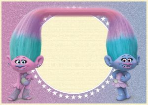 Printable Trolls Birthday Invitations
